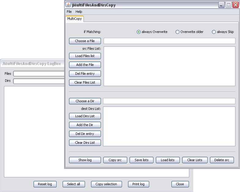 Windows 7 jMultiFilesAndDirsCopy 0.9.1.0 full