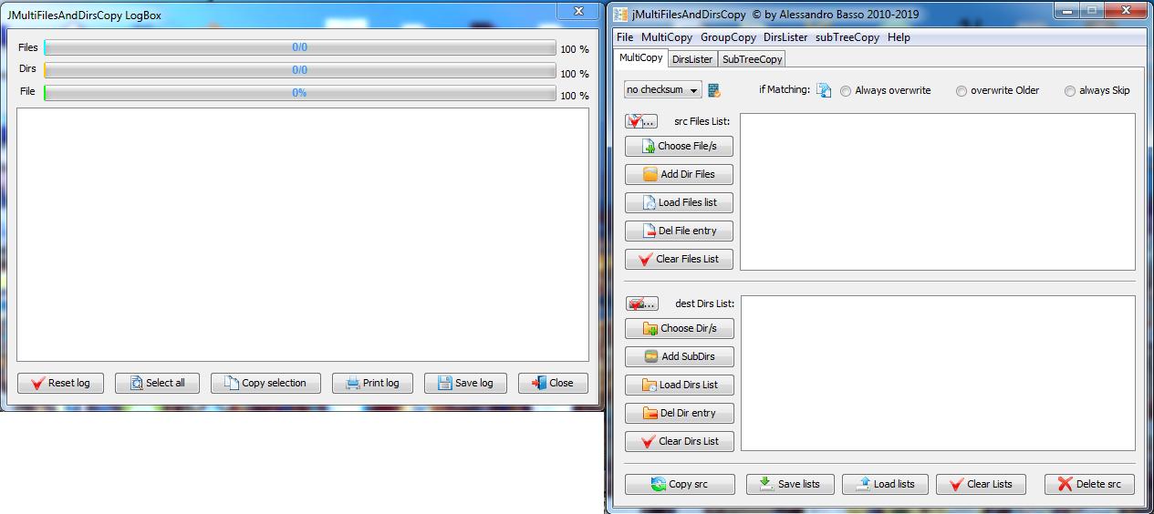 Windows 7 jMultiFilesAndDirsCopy 1.0.0.0 full